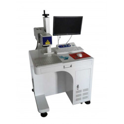 Fiber laser marking machine to mark metal and non metals.