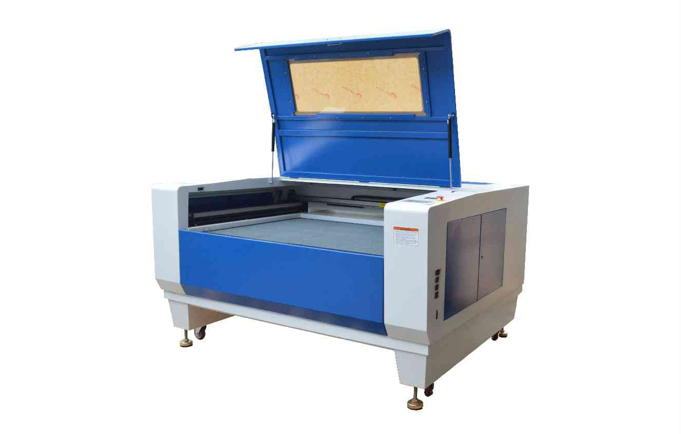 Laser machine with lift table.